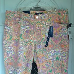 Chaps Playful Paisley Denim Jeans NWT